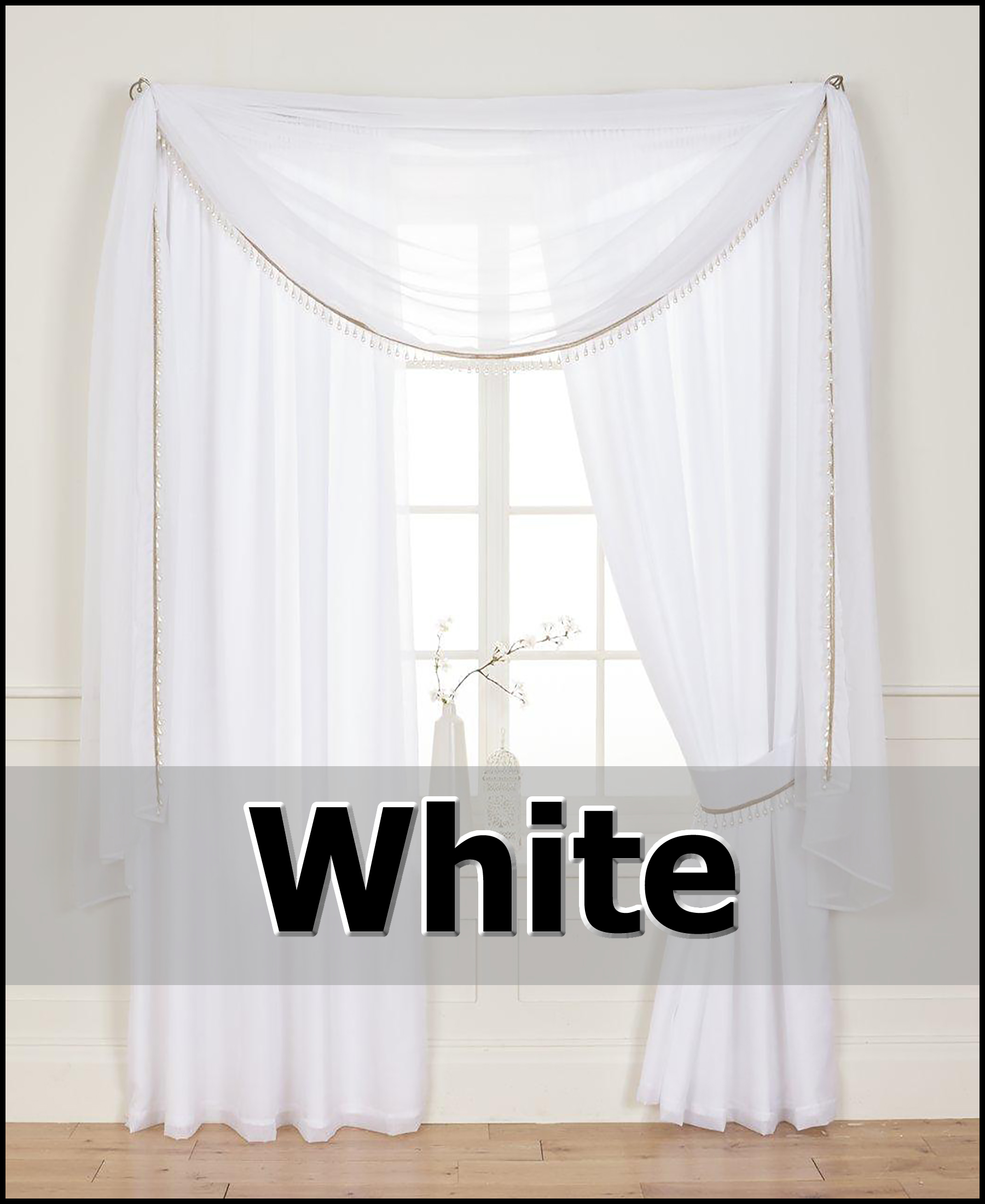 PEARL VOILE LINED TAPE TOP CURTAINS